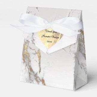 Foxier Goldmarmor-Stein-Herz-16. silberne Geschenkschachtel