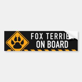 Foxterrier an Bord Autoaufkleber