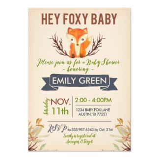 Foxy Babyparty-Einladungs-WaldwaldFox Karte