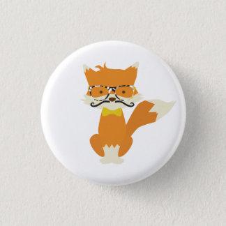 Foxy Hipster Runder Button 3,2 Cm