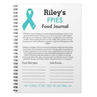 FPIES Nahrungsmittelzeitschrift Spiral Notizblock