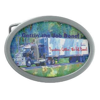 Fracht-LKW-Fahrer-Tribut-Transport-Schnalle Ovale Gürtelschnalle