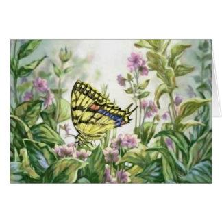 Frack-Schmetterling auf dem Vergissmeinnicht-Malen Karte