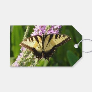 Frack-Schmetterling auf lila Wildblumen Geschenkanhänger