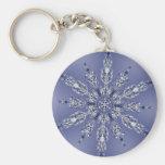 Fractale de flocon de neige porte-clef
