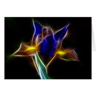 fractalius Blau-Lilie Karte