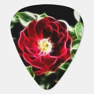 Fractalius Rote Rose Gitarren-Pick