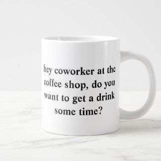 fragen Sie heraus Ihren niedlichen Mitarbeiter mit Jumbo-Tasse