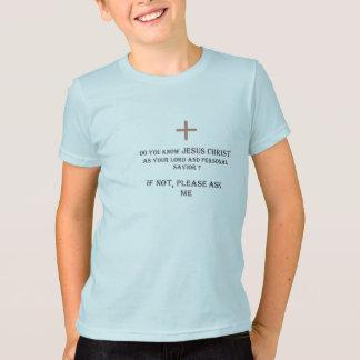 Fragen Sie mich über Jesus T-Shirt