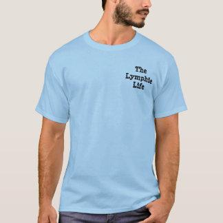 Fragen Sie mich über meinen Bein-grundlegenden T - T-Shirt