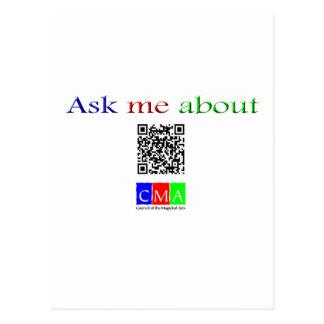 fragen Sie mich über q-Code Postkarte