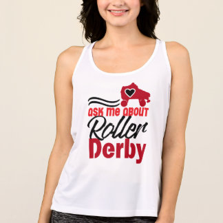 Fragen Sie mich über Rolle Derby, Rollen-Skaten Tank Top