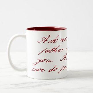 Fragen Sie nicht… Tassen-Rot Zwei-Ton der Vatertag Zweifarbige Tasse
