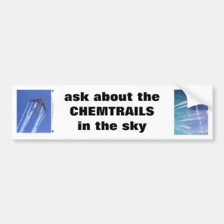 """""""fragen Sie über das CHEMTRAILS"""" Mitteilung Autoaufkleber"""