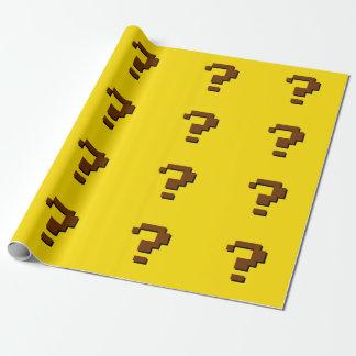 Fragezeichen-Pixel-Kunst-Packpapier Einpackpapier