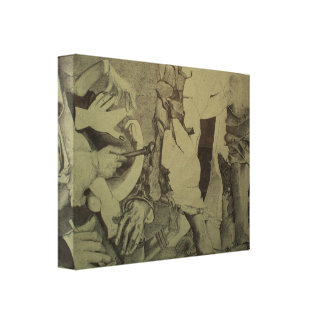 Fragmente d'Arts rollen Detail durch Leinwanddruck