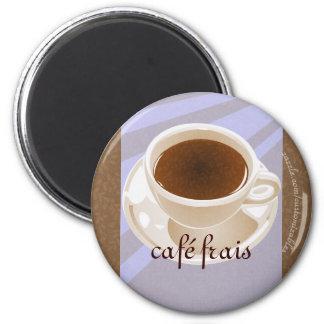 Frais de Café Magnet Rond 8 Cm