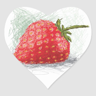 fraise sticker cœur