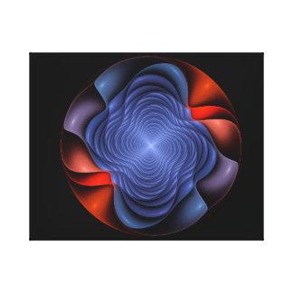 Fraktal-Blume auf einem dunklen Hintergrund Leinwanddruck