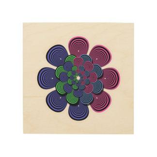Fraktal-Blume Holzdruck