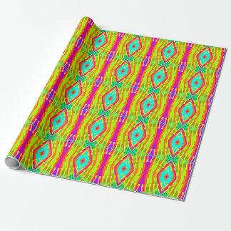 Fraktal-Fliesen-FarbPop Einpackpapier