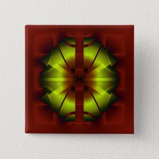 Fraktal-Geometrie Quadratischer Button 5,1 Cm