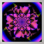 Fraktal in blacklight Art Poster