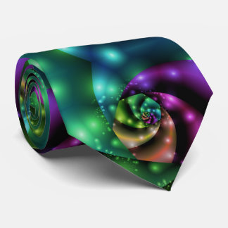 Fraktal-kosmische Rosen-Fliese Personalisierte Krawatten