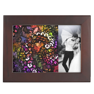 Fraktal lila psychedelische Regenbogen-Spirale Erinnerungsdose