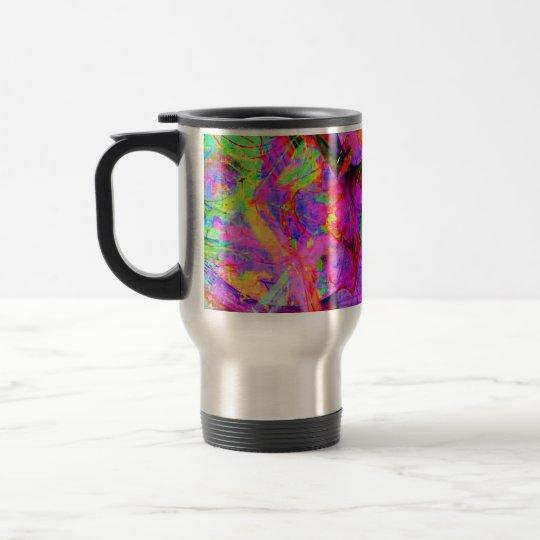 Fraktal roter Psy Kaffee Edelstahl Thermotasse