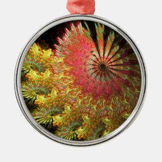 Fraktal Spirale Silbernes Ornament