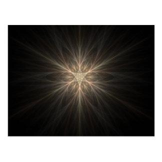Fraktal-Stern-oder Schneeflocke-Entwurf Postkarte