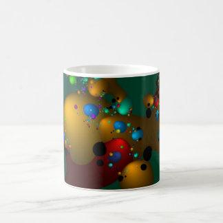 Fraktal-Tinten-Flecken Kaffeetasse