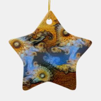 Fraktal Van Gogh Mandelbrot Keramik Ornament
