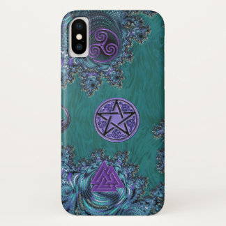 Fraktalpentagram-keltischer Symbole iPhone X Fall iPhone X Hülle