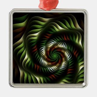 Fraktalturbulenz Silbernes Ornament