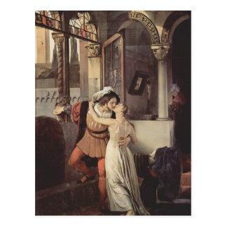 Francesco Hayez- der letzte Kuss von Romeo und von Postkarte