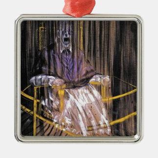 Francis Bacon - schreiende Päpste Silbernes Ornament