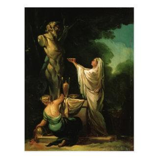 Francisco Goya- das Opfer zu Priapus Postkarte