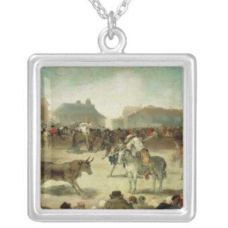 Francisco Jose de Goya | ein DorfBullfight Versilberte Kette