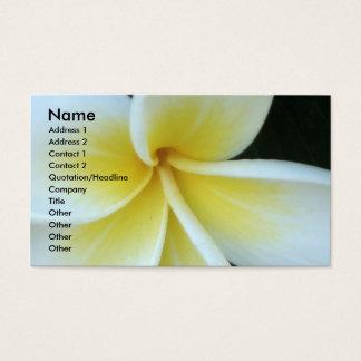 Frangipani-Blume Geschäfts-Karte Visitenkarten
