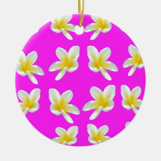 Frangipani_Blush, _ Keramik Ornament