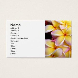 Frangipani - Plumeria Visitenkarten