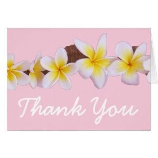 Frangipani-tropische Hochzeit danken Ihnen Karten