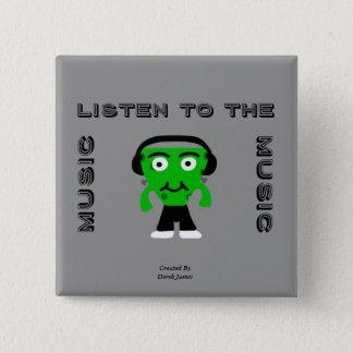 FrankenCheese hören zum Musik-Quadrat-Knopf Quadratischer Button 5,1 Cm