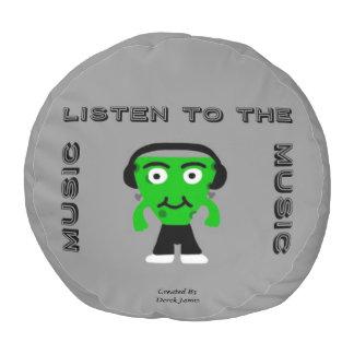 FrankenCheese hören zum Musik-runden Puff Runder Sitzpuff