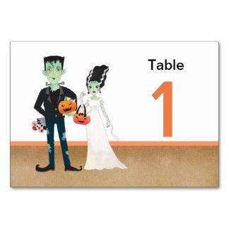 Frankenstein Braut-Halloween-Hochzeit Karte