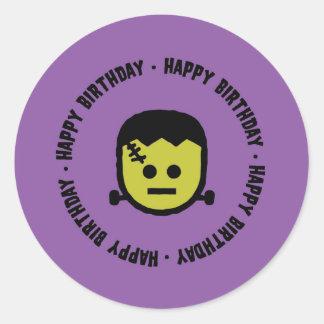 Frankenstein Halloween Geburtstags-Aufkleber Runder Aufkleber