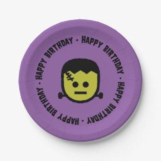 Frankenstein Halloween Geburtstags-Papier-Teller Pappteller 17,8 Cm
