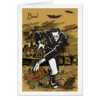 Frankenstein Halloween Karte